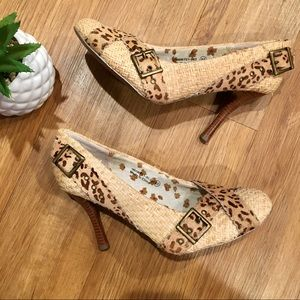 Naughty Monkey Out of Line Animal Print Heels